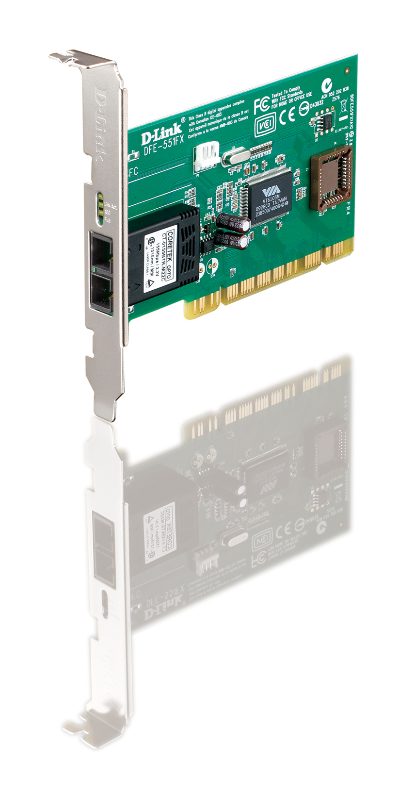 D-LINK DFE-551FX Optical Fiber Fast Ethernet LAN Network Adapter PCI Card FIBER
