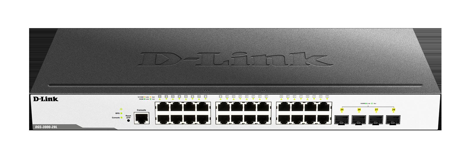 D-Link DES-3028 Fast Ethernet L2+ Switch XP