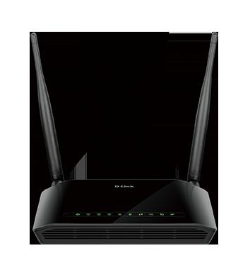 D-Link DSL-2750U Wireless N300 ADSL2 4-Port Router with Modem