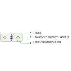 Flat Drop FTTH Cable